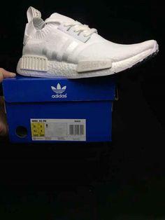 online retailer 20dfd 669ac Adidas NMD R1 Pk Primeknit White Ba8630 Factory Authentic Shoe