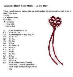 tatting Pattern for Janice Blair's Heart