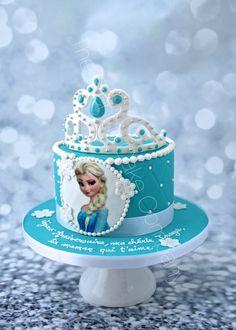Gâteau d'anniversaire la Couronne de la Reine des Neiges Frozen Crown Cake Cake Design Belgique Elsa Birthday Cake, Frozen Themed Birthday Cake, Frozen Theme Cake, First Birthday Cakes, Themed Cakes, Princess Theme Cake, Princess Cookies, Frozen Cake Designs, Pastel Frozen