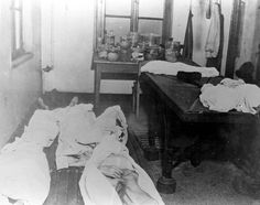 Buchenwald, Germany, 1945, A room used for medical experiments, after the liberation.
