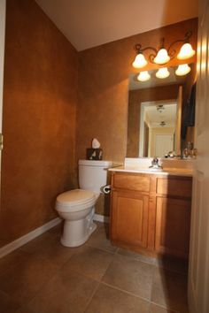 Warm Bathroom colors #RealEstate #Illinois #HouseforSale #HomeDecor