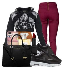 """Untitled #519"" by kaja-bear ❤ liked on Polyvore featuring Pieces, NIKE, Chanel, Illamasqua and Michael Kors"