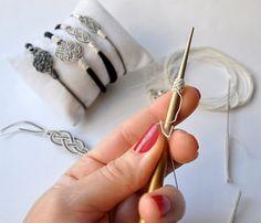 OOAK Love Knot Infinity Bracelet Fine Silver Wire Woven