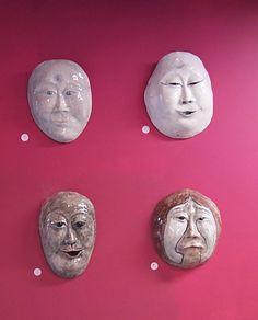 ceramic mask by linda dohanos