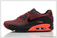 purchase cheap dab9a dd3bb rojo Oscuro Negro Nike Air Max 90 Ultra BR 725222-600 Hombre-Mujeres bambas  running