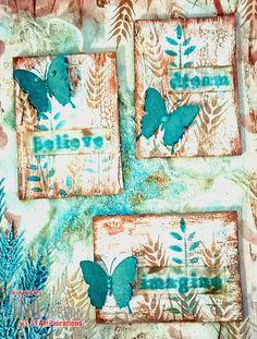 Alchemy Art, Texture Paste, Mixed Media Tutorials, Little Birdie, Broken China, Ink Stamps, Artist Trading Cards, Stencil Designs, Colored Paper