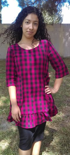 Modest Ladies Top w/Side Pockets Francine by luisalove30 on Etsy