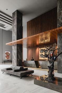 Dusit Thani on Behance Hotel Lobby Interior Design, Modern Hotel Lobby, Luxury Interior, Adobe Photoshop, Lightroom, Classic Kitchen Cabinets, Lobby Reception, Hospital Design, Hotel Interiors