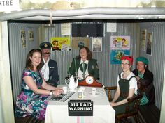 Tameside CAB 1940s themed party - with air raid shelter!