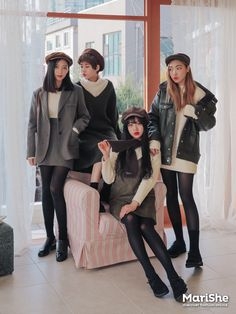 vintage outfits vintage outfits plus size trendy vintage outfits Korean Girl Fashion, Korean Fashion Trends, Ulzzang Fashion, Korean Street Fashion, Korea Fashion, Cute Fashion, Asian Fashion, Look Fashion, Winter Fashion