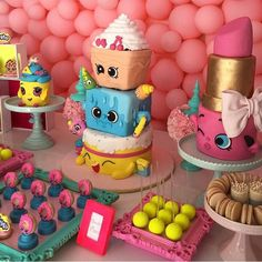 shopkins birthday party cakes