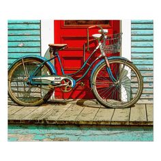 """Vermont, gifts, New England, Old Bicycle 24"""" x 20"""", (Satin) Photo"""