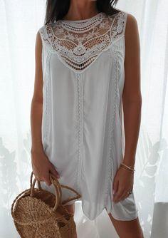 Sukienka Bolivia - Biała biały   NOWOŚCI KATEGORIE \ Sukienki KATEGORIE \ POKAŻ WSZYSTKIE > SUKIENKI