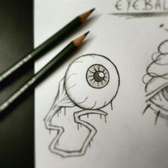 https://www.instagram.com/timmy.senf.illustration/ Creepy horror eyeball drawing faber castell artist art kunst zeichnung sketch skizze bloody