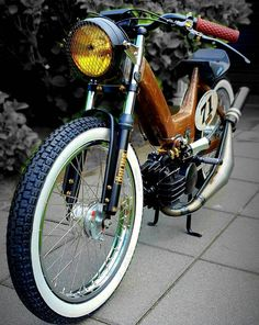 Puch Moped, Moped Bike, Bmx, Custom Moped, Custom Bikes, Mini Chopper, Santa Sleigh, Cafe Racer, Mini Bike