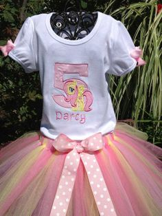 My Little Pony  Fluttershy Tutu Set.  Includes by bloomnbows, $50.00