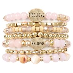 See our website for full details. Bracelet Set, Jewelry Bracelets, Walk By Faith, Christian Jewelry, Layered Bracelets, Walking By, Gifts For Women, Pink Ladies, Glass Beads