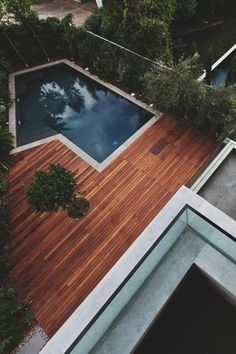 Wooden deck pool ITCHBAN.com // Architecture, Living Space & Furniture Inspiration #10