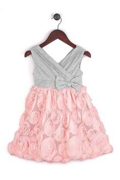 Joe-Ella   Fanny Soft Surplice Rosette Skirt Dress (Baby, Toddler, & Little Girls)   HauteLook