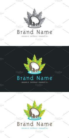 Coco Oil, Fruit Logo, Ai Illustrator, Logo Design, Graphic Design, Eps Vector, Logo Ideas, Business Card Design, Black Backgrounds