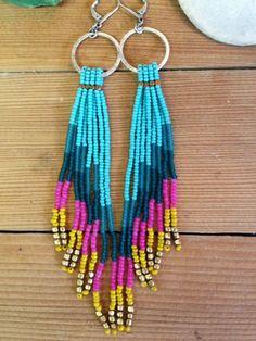 Kata Fringe Earrings : ready to ship one of a kind by LynzeeLynx