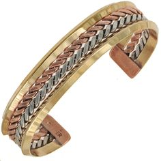 Navajo Handmade Bracelet Copper Silver Cuff By Tahe