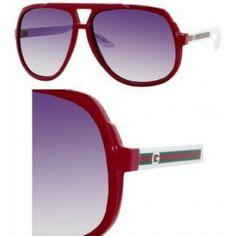 1569f1caa Óculos GUCCI 1622/S 1622S Red/White HD8/LF Retro Aviator Sunglasses 63mm