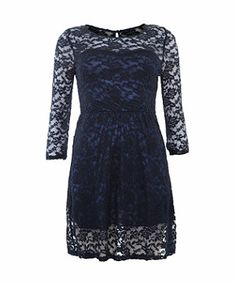 Mela Blue Long Sleeve lace dress  #lace #dress #blue