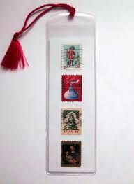 postage stamps bookmark