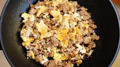 Minced Pork with Scrambled Egg : Thai Food Part 72