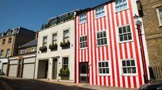 O ASSUNTO É!?: Milionária pinta casa com listras vermelhas para s...
