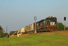 Norfolk Southern leads uot of Rock Hill with a cut of cars for the Lancaster and Chester Railroad in Chester. NS 3534 was built in 1989 Rock Hill, Railroad Photography, Norfolk Southern, Make Way, Chester, Lancaster, Digital Photography, Beverly Hills, Joseph