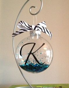 Personalized ornament. Inexpensive gift idea for co-workers.