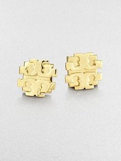 Tory Burch - Logo Stud Earrings/Gold Have these in silver love them