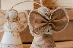 Sweet handmade burlap angel, made with love for your home in any festive occasions!) ♥♥♥ This is another example of creations in my traditional technique. These angels created to be a nice handcrafted gift for him, lovely wedding decor or even anniversary gift for a couple. Also, it can be lifelong unique rustic home or room decor. ♥♥♥ Made with my favorite burlap material, all the parts tidily fastened together. Every item produced in clean, smoke and pet free environment. The size of an…
