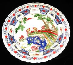 CHINESE PORCELAIN DOUBLE PHOENIX CHARGER 45 CM, HAND PAINTED KANG -XI  MARK, NR