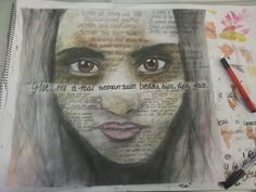 #women #art #socitey #quotes #poema #pencil #penn #wash #paint #portraiture #alevel