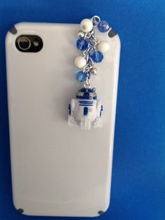 R2 D2 from Star Wars Cellphone Charm, head phone jack dust plug charm, ear cap plug, Galaxy S3 or S4 plug ($8.00 USD)