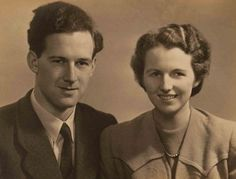 Mavis Bately, right, and her future husband Keith in 1942 while they both worked as codebreakers on the Enigma project. Mrs. Bately helped to unlock the nearly impenetrable Nazi secret service codes. She died on November 12, 2013 at the age of 91.