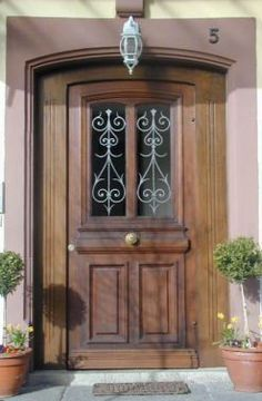 Restored and rebuilt historical front door by Florian Langenbeck Historic doors Source by u_wieczorek Farmhouse Renovation, Front Door Entrance, Restaurant, Facade House, Interior Exterior, Windows And Doors, Antique Furniture, Home Remodeling, Tall Cabinet Storage