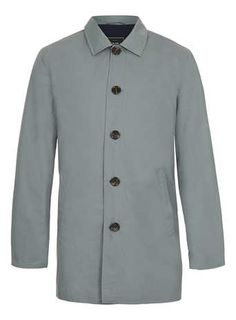 LIGHT GREY SINGLE BREASTED TRENCH COAT