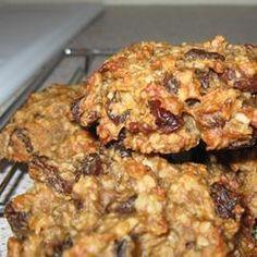 Biscuits santé aux bananes, sans noix. Pas sucre, pas de beurre.