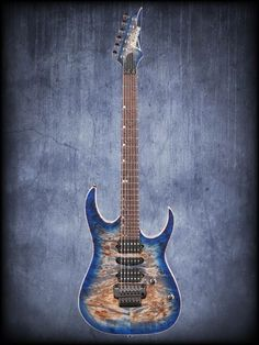 Ibanez - Premium RG1070PBZ Electric Guitar Cerulean Blue Burst Bass Ukulele, Jazz Guitar, Cool Guitar, Guitar Images, Ibanez, Guitar Design, Cerulean, Consumerism, Electric Guitars