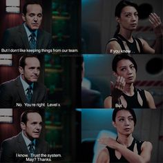 """mingaling angela on Instagram: """"━ → AOS 88 days challenge ⌞Day 7: season 1 episode 7: """"The Hub"""" ⌝ ━ Ming's acting and eye acting is on point 👌🏻I love how coulson…"""" Marvel Show, Marvel Dc, Marvel Funny, Marvel Memes, Funny Pics, Funny Pictures, Agents Of Shield Seasons, Ship Names, Phil Coulson"""