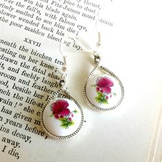 Pink Peony Earrings by EridaneasBoutique on Etsy