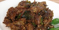 Mutton Fry (updated pic) This is a recipe for delicious Kerala style mutton fried with a blend of exotic spices and regional flavor. Meat Recipes, Indian Food Recipes, Chicken Recipes, Cooking Recipes, Indian Foods, Recipies, Mutton Recipes Pakistani, Indian Street Food, Kitchen Corner