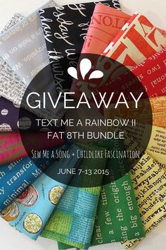Giveaway!!! Enter to win a fat 8th bundle from Sew Me a Song from June 7-13, 2015 at ChildlikeFascination.com