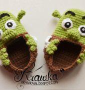 Shrek Booties by Kamila Krawka Krawcyzk - Free