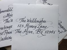 Pretty calligraphy for invites? Can I do this myself?