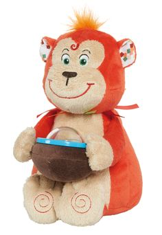 """La peluche Zumba le singe de la collection """"Melting'Potes"""" par Latitude Enfant Jouet d'éveil ludique, doudou pour bébé, produit de puericulture. http://www.latitudeenfant.fr/nos-collections/melting-potes/"""